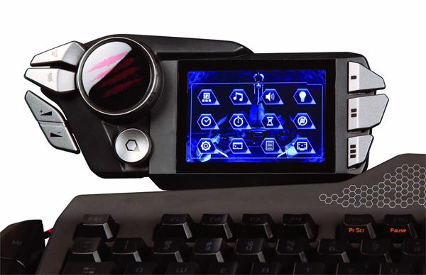 Clavier gamer avec écran tactile
