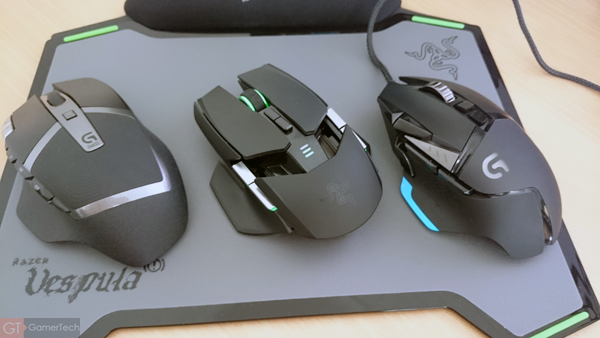 Comparatif tailles souris gaming