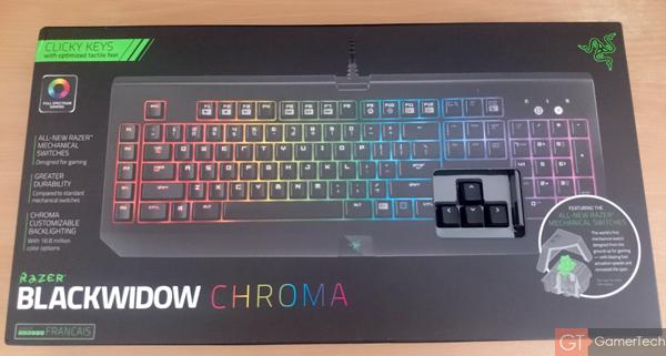 Boite du clavier Razer Chroma
