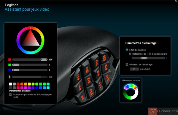Gestion couleurs des LEDs
