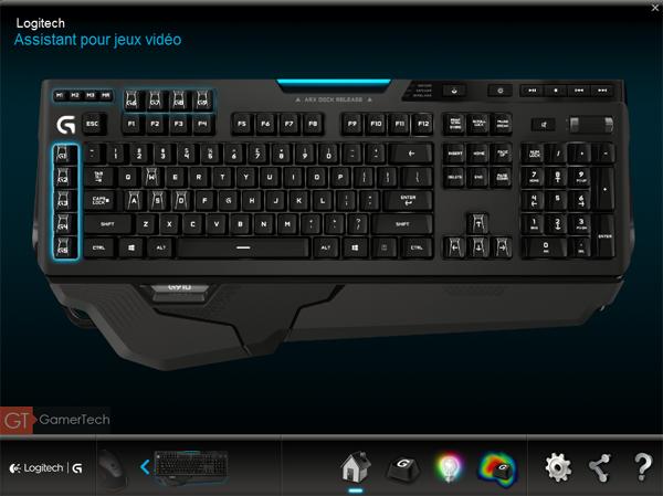 Logiciel Assistant JV de Logitech pour clavier G910 Orion Spark