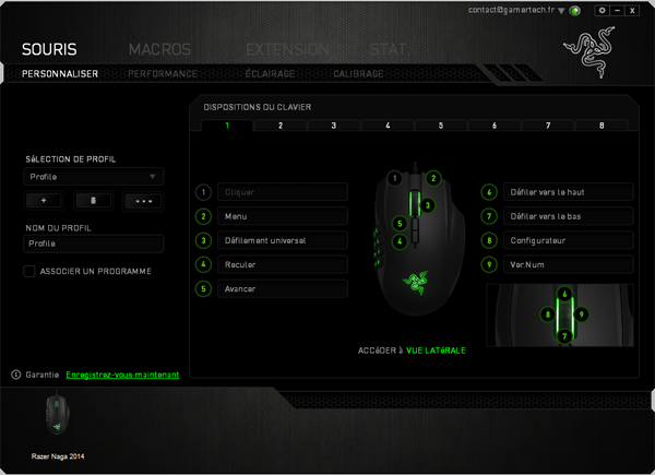 Logiciel Razer Synapse 2.0 pour Naga