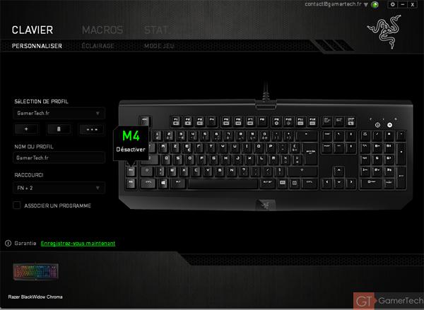 Logiciel Razer Synapse 2.0 pour clavier de joueurs FPS