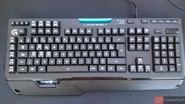 Vue dessus du clavier