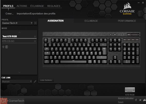 Logiciel Corsair Gaming