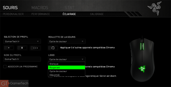 Rétroéclairage RGB Chroma