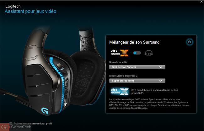 Casque Gamer avec DTS Headphone X