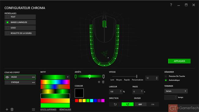 Configurateur Chroma pour souris Diamondback