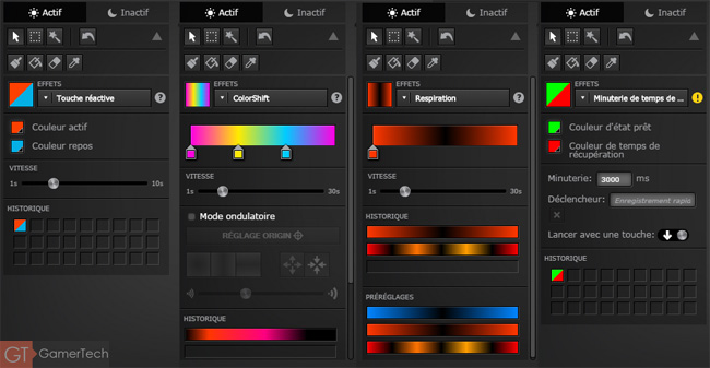 Configuration du rétroéclairage RGB