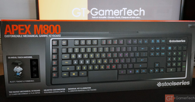 Unboxing du clavier SteelSeries Apex M800