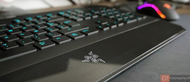 Zoom sur le repose-poignet disposant du logo Razer