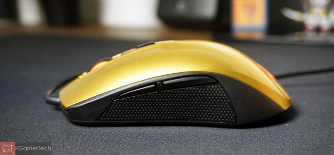 Vue latérale gauche de la souris pour gamer