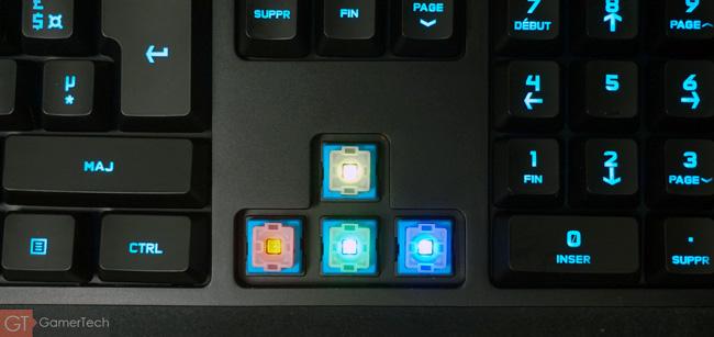 Eclairage RGB des interrupteurs mécaniques Romer-G