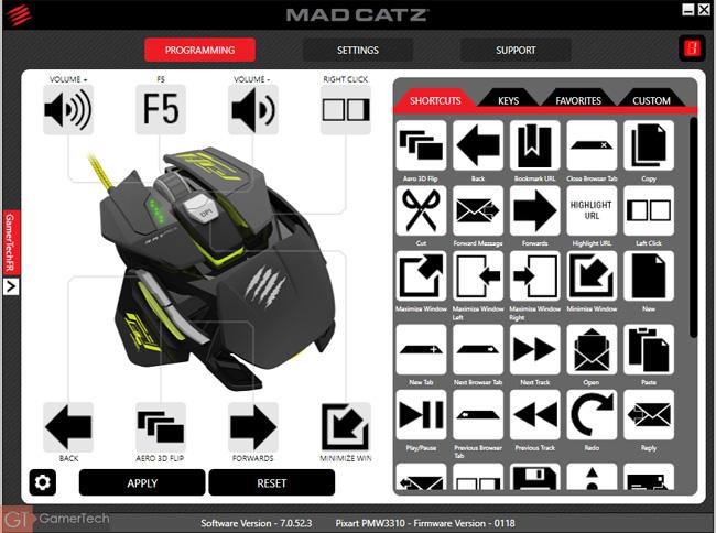 Logiciel Mad Catz R.A.T. Pro S