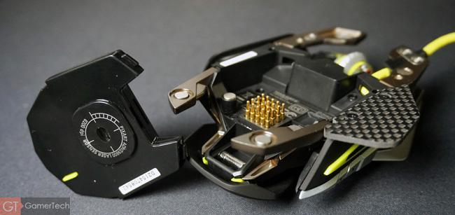 Le capteur de la souris peut être modifié