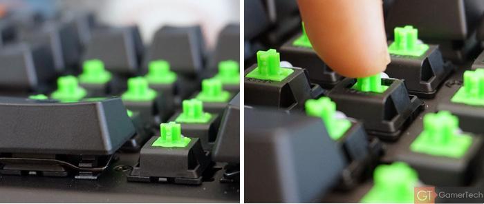 Zoom sur les switches Razer Green de Kailh