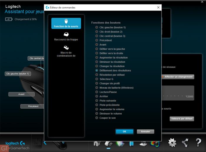 Configuration des boutons sur souris gamer PC