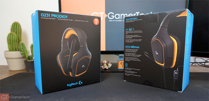 Packaging du casque G231 de Logitech