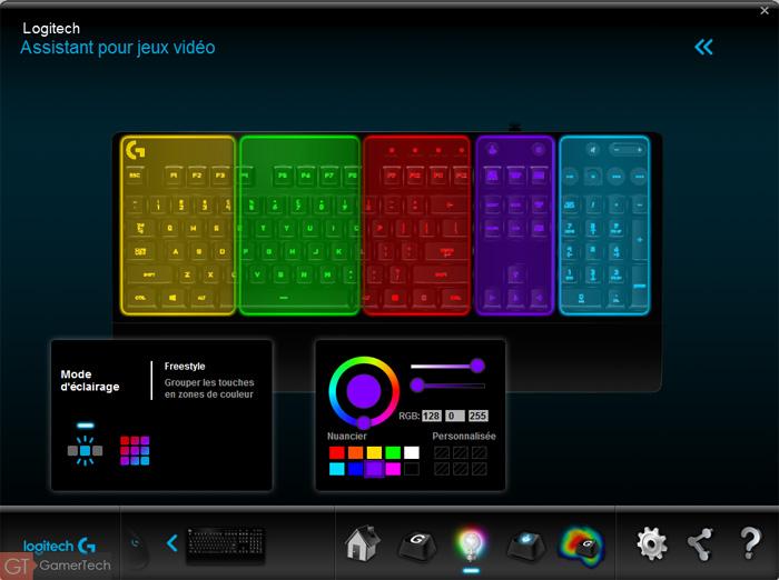 Rétroéclairage RGB Freestyle sur clavier Logitech