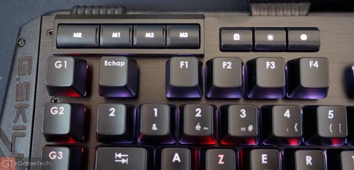 Touches additionnelles clavier
