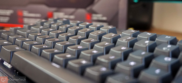 Zoom sur les touches mécaniques du clavier