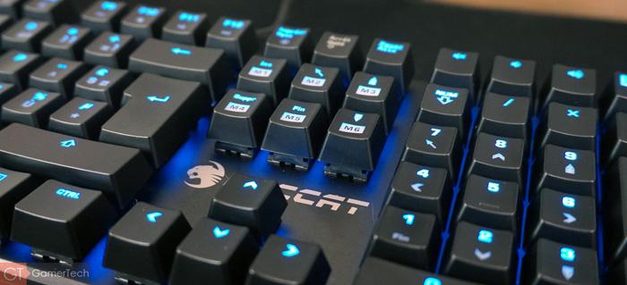 Logo Roccat sur clavier gaming