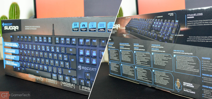 Packaging du clavier Roccat Suora