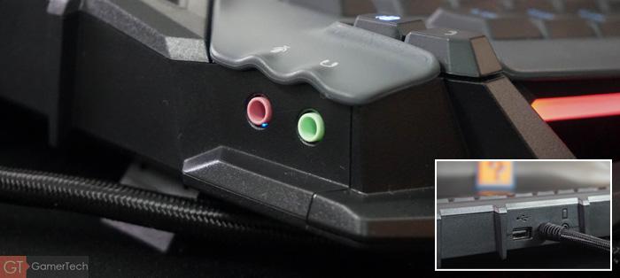 Clavier gamer avec hub USB et port jack