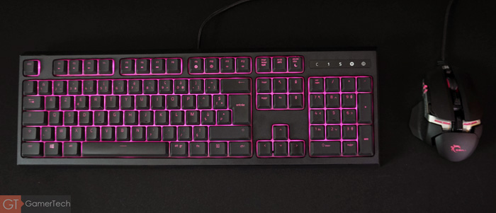 Clavier gamer au layout simple
