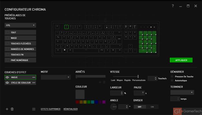 Configurateur Chroma RGB