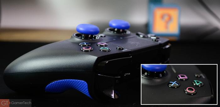 Manette PS4 avec boutons mécaniques