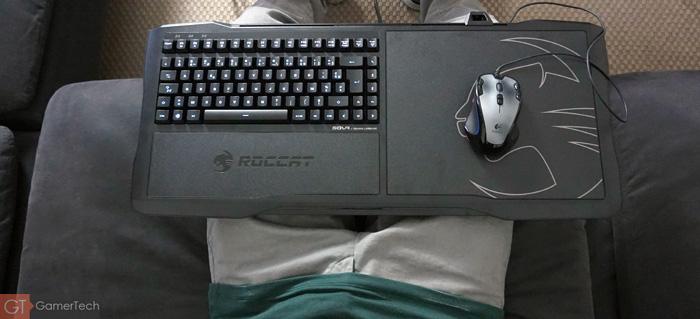 Présentation du lapboard Roccat Sova