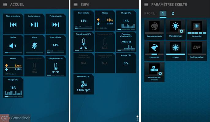 Suivi CPU et GPU sur smartphone