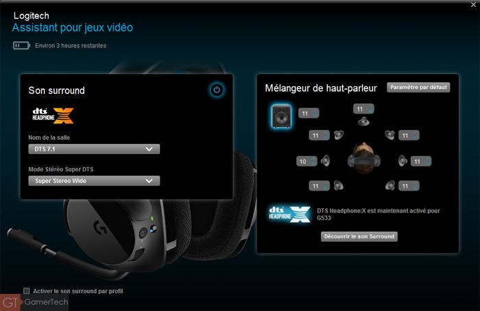 Casque gamer Dolby Surround 7.1