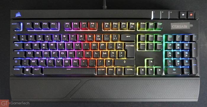 Exemple de rétroéclairage sur clavier pour joueurs PC Mac