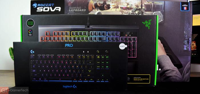 Comparatif de tailles des claviers pour joueurs