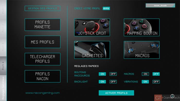 Logiciel Nacon Gaming