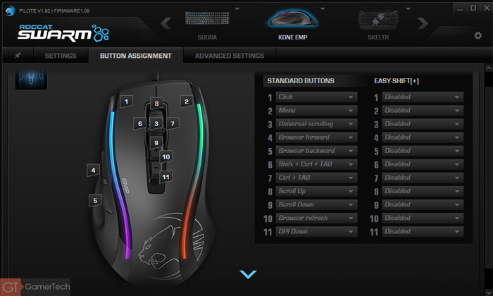 Mapping des boutons sur souris gamer