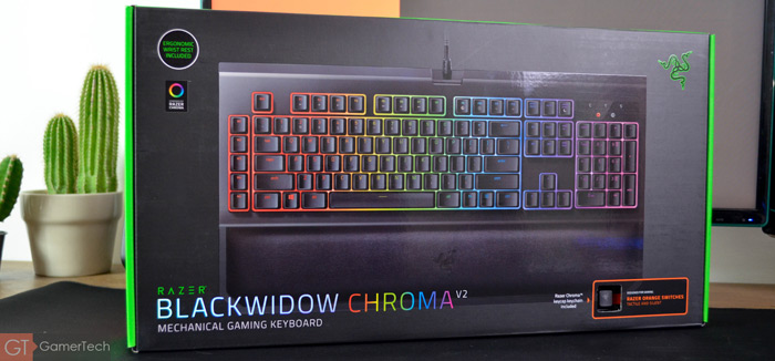 Packaging du clavier Razer