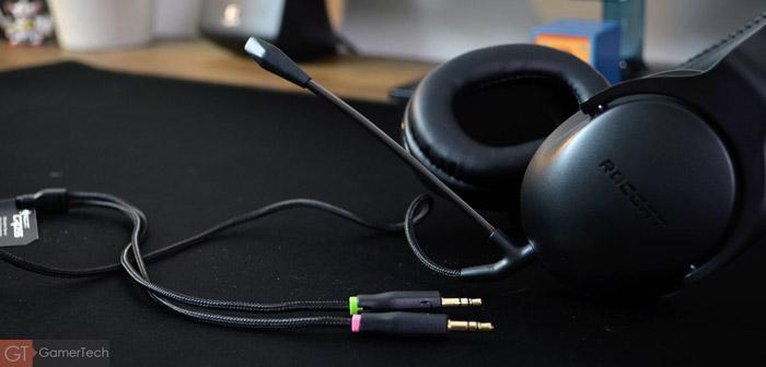 Le casque peut-être utilisé avec un câble intégrant un micro flexible