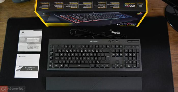 Unboxing du Corsair K55 RGB, un clavier à membrane abordable
