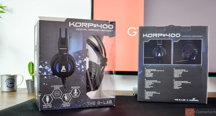 Packaging casque The G-Lab Korp 400