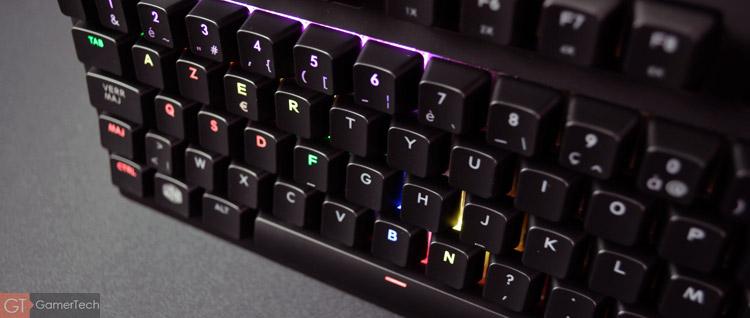 Le clavier dispose d'un logiciel pour paramétrer le rétroéclairage RGB