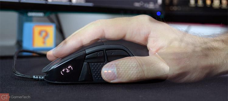 Souris gamer Palm Grip