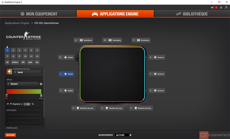Le SteelSeries Application Engine adapte l'éclairage à vos jeux
