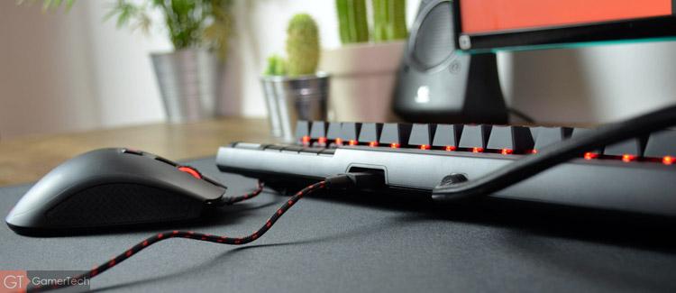 Le clavier intègre un port USB supplémentaire