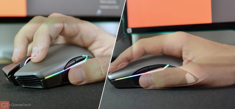La souris est confortable et s'adapte aussi aux gauchers