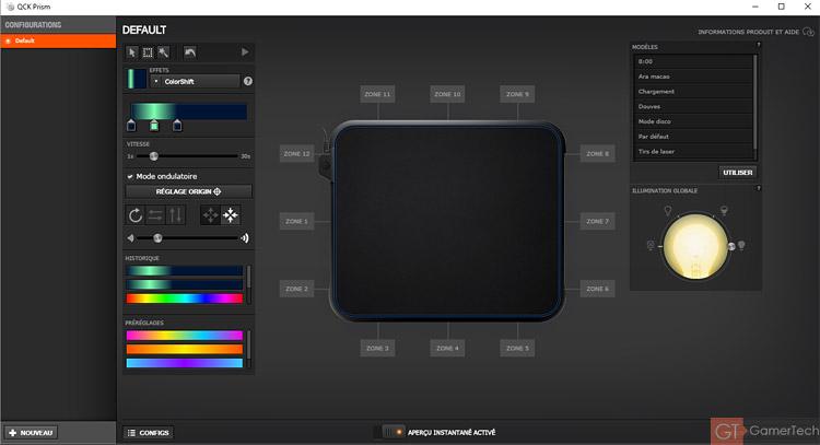 Gestion des éclairages via le SteelSeries Engine V3