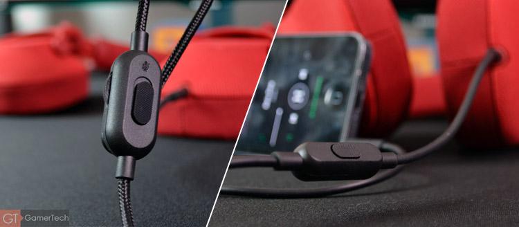 Deux câbles sont fournis avec le micro-casque