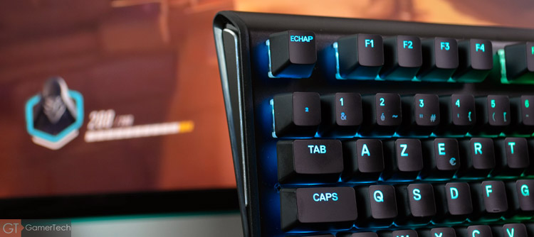 Performances du clavier SteelSeries Apex M750